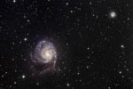 Champ des galaxies M101 et NGC5474