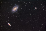 Champ des galaxies M81, M82 et NGC3077