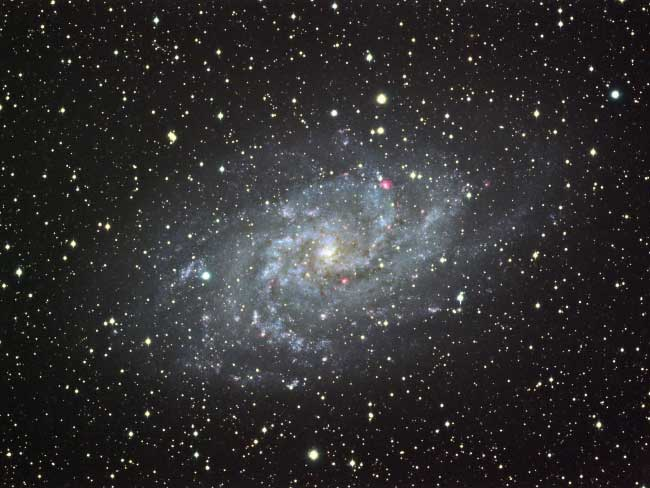 Galaxie M33 dans le Triangle